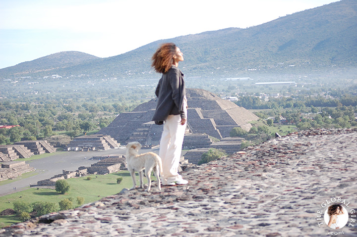 The Global Girl Travels: Sacred Sites - Pyramid of The Moon in Teotihuacan, Mexico.