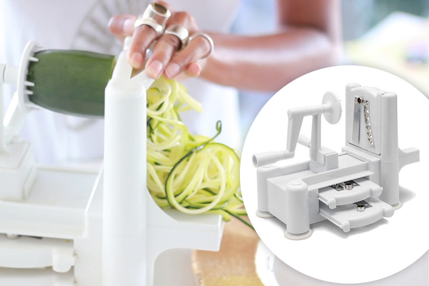 The Global Girl's Top 5 Raw Vegan Kitchen Essentials: Paderno Spiralizer.