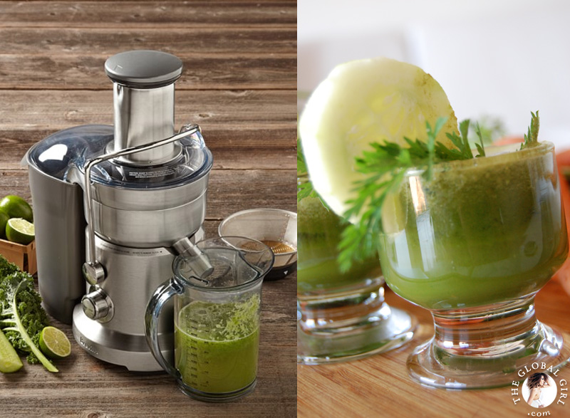 The Global Girl Beauty Juice Fast: Ndoema shares her top 5 juicers, tools and tips for a successful 90 day juice fast. The Breville makes the best tasting green juice and in record time.