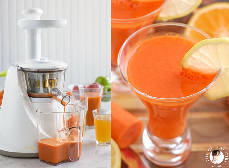 The Global Girl Beauty Juice Fast: Ndoema shares her top 5 juicers, tools and tips for a successful 90 day juice fast. The Hurom tops her list of juice fasting essentials. masticating slow juicer