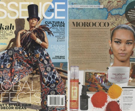 Global Beauty Feature in Essence Magazine's Inaugural Global Issue