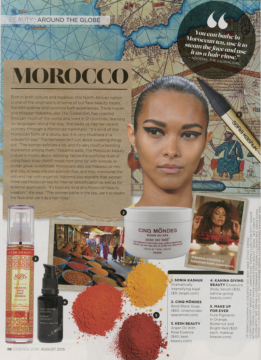 The Global Girl Press: Ndoema featured as beauty expert in Essence Magazine's Inaugural Global Issue