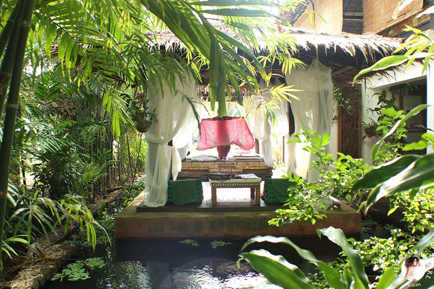 The Global Girl Travels: Eco-chic glamping in Ko Yao Noi island, Thailand. The Spa completes the resort's open-air lifestyle theme with an outdoor Sala nestled amongst exotic koi pond gardens.