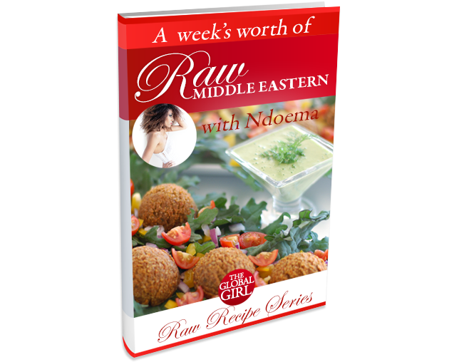 The Global Girl Raw Middle Eastern Recipes: These healthy raw vegan recipes are the healthiest way to satisfy your Middle Eastern food cravings. 100% raw, vegan, gluten free and low fat.