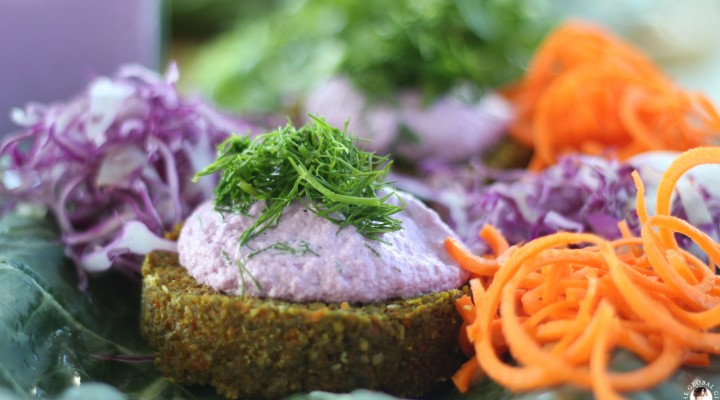 Raw Carrot & Dill Burgers