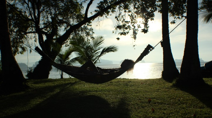 The Global Girl Travels: Hammock in the sunset and the serenity of island life in Koh Yao Noi, Thailand.