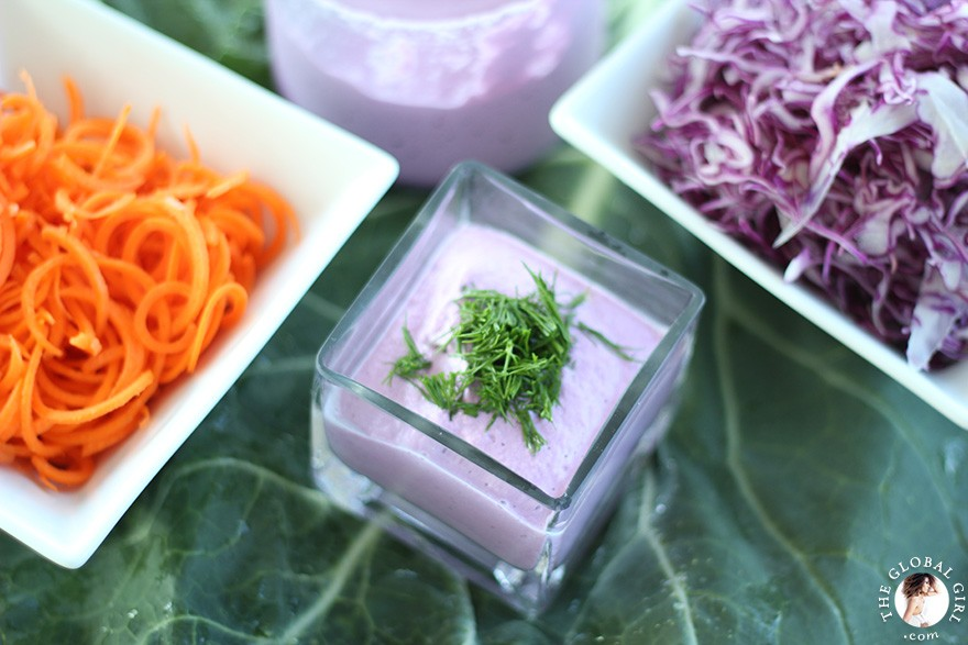 The Global Girl Raw Food Recipes: Antioxidant-Packed Creamy Vegan Dip. 100% raw, vegan, dairy free and gluten free.