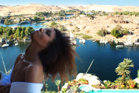 The Global Girl Travels: Ndoema at the Sofitel Legend Old Cataract Hotel in Aswan, Egypt.