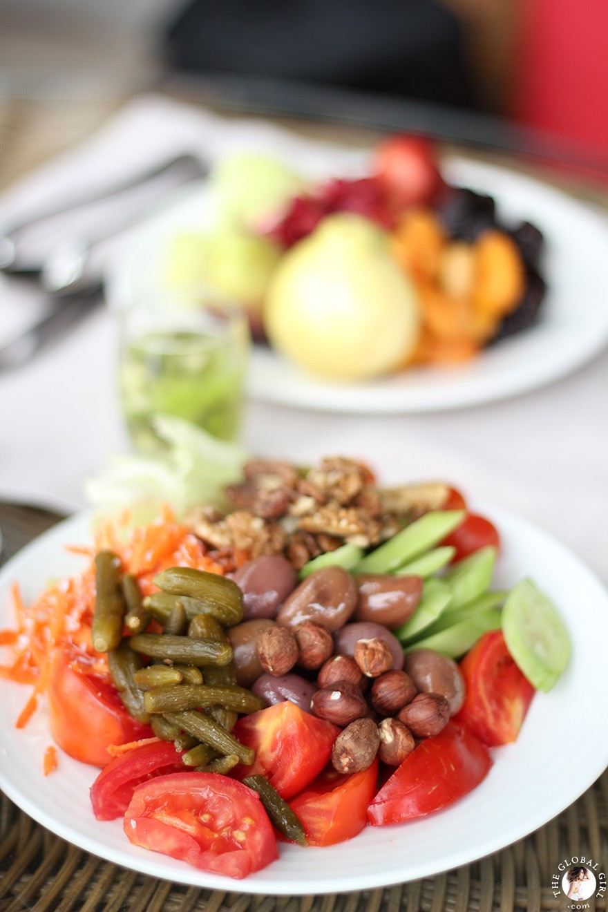 The Global Girl Travels: Healthy lunch at The Sofitel Legend Old Cataract Hotel in Aswan, Egypt.