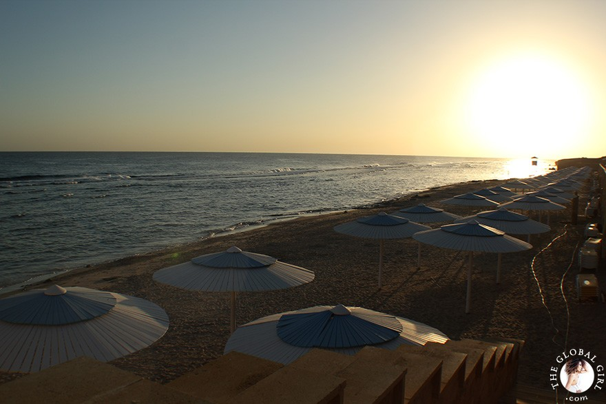 bThe Global Girl Travels: Beautiful sunrise on the Red Sea in Marsa Alam, Egypt.