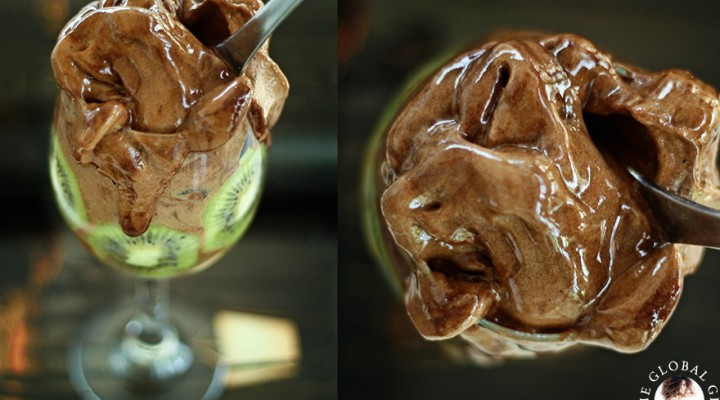 Raw Vegan Chocolate & Kiwi Ice Cream
