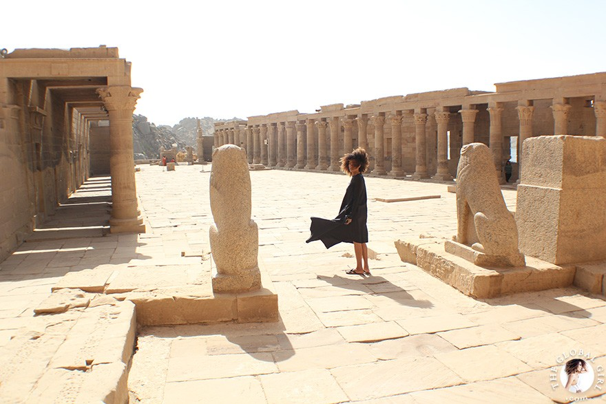 The Global Girl Travels: Ndoema at the Philae Temple in Aswan, Egypt.