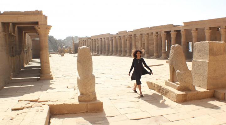 The Global Girl Travels: Ndoema at the Philae Temple in Aswan, upper Egypt.