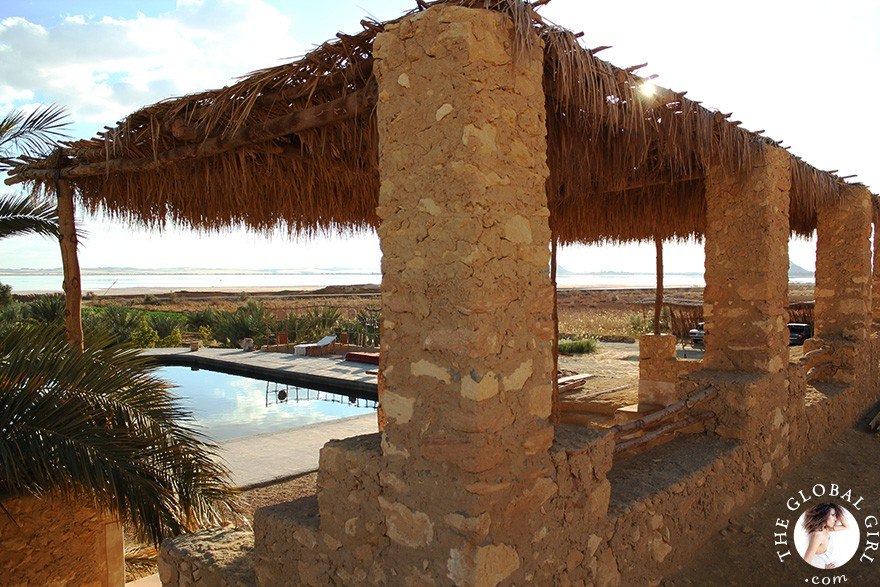The Global Girl Travels: Eco-chic living at luxury eco-lodge Talist at Siwa Oasis in the Libyan desert.