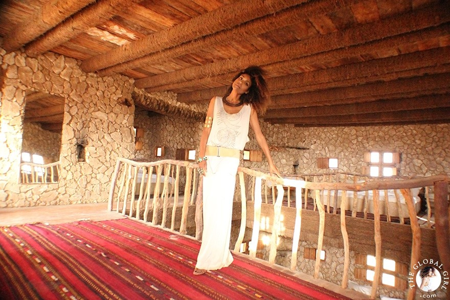 The Global Girl Travels: Ndoema at Adrère Amellal in Siwa Oasis, Egypt. This eco-chic desert lodge is the epitome of monastic luxury and a marvel of net-traditional architecture. A true taste of what serene desert life was like hundreds of years ago.
