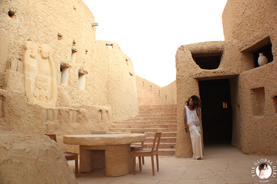 The Global Girl Travels: Ndoema at Adrère Amellal in Siwa Oasis, Egypt.