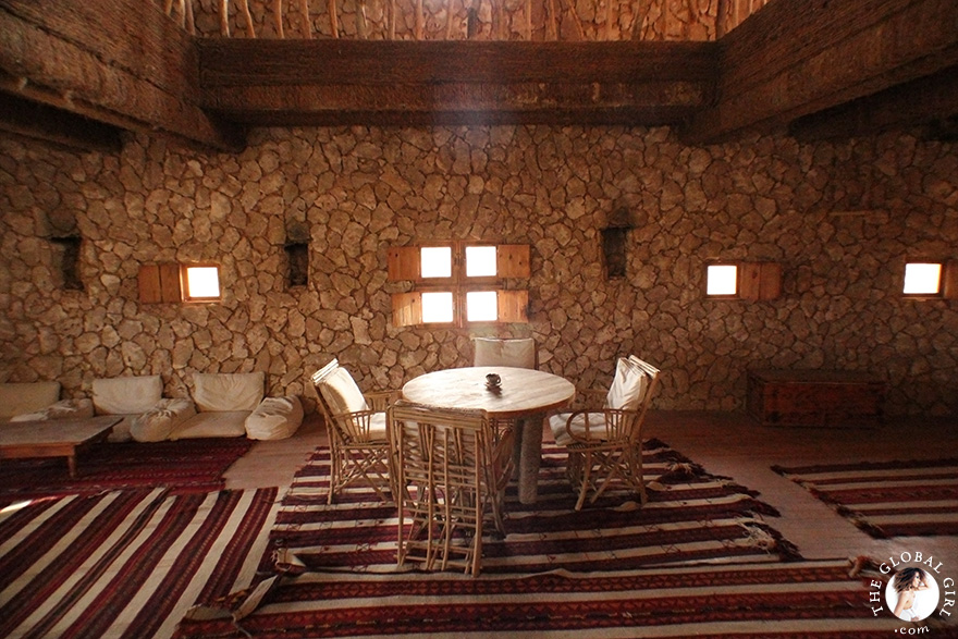 The Global Girl Travels: Adrère Amellal luxury eco-friendly desert resort at Siwa Oasis, Egypt.