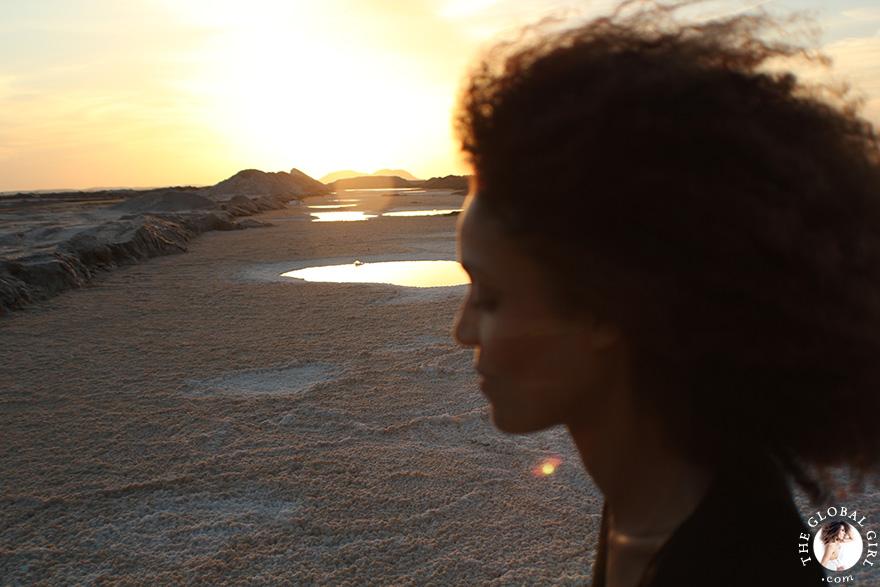 The Global Girl Travels: Ndoema visits a local salt mine at Siwa Oasis, Egypt.