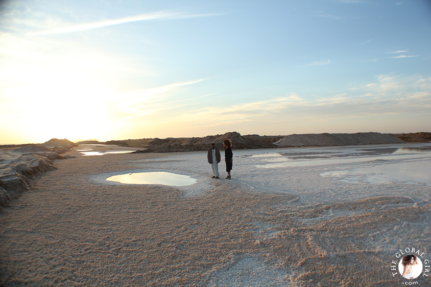 The Global Girl Travels: Ndoema visits a local salt mine at Siwa Oasis, Egypt.
