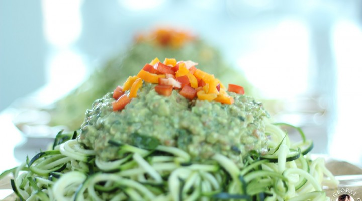 Raw Vegan Avocado Basil Sauce