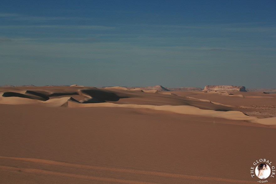 The Global Girl Travels: Safari in the Libyan desert - Sahara, North Africa.