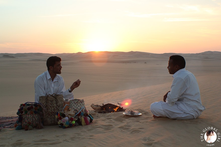 The Global Girl Travels: Traditional Berber Tea in the Sahara Desert, Siwa Oasis - Egypt.