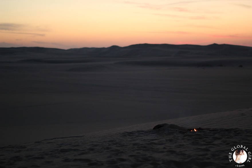 The Global Girl Travels: Sunset over the sand dunes in the Sahara Desert, Siwa Oasis - Egypt.