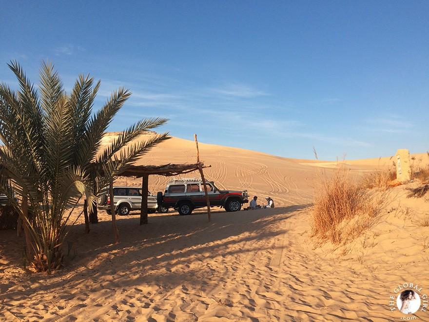 The Global Girl Travels: Desert Safari in The Great Sand Sea, a 72,000 km² sand desert region in North Africa stretching between western Egypt and eastern Libya.
