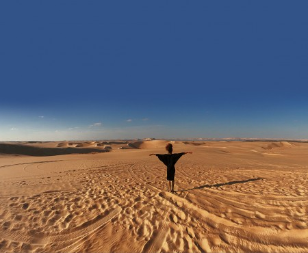 The Global Girl Travels: Ndoema in the middle of The Great Sand Sea, 72,000 km² sand desert region in North Africa stretching between western Egypt and eastern Libya.