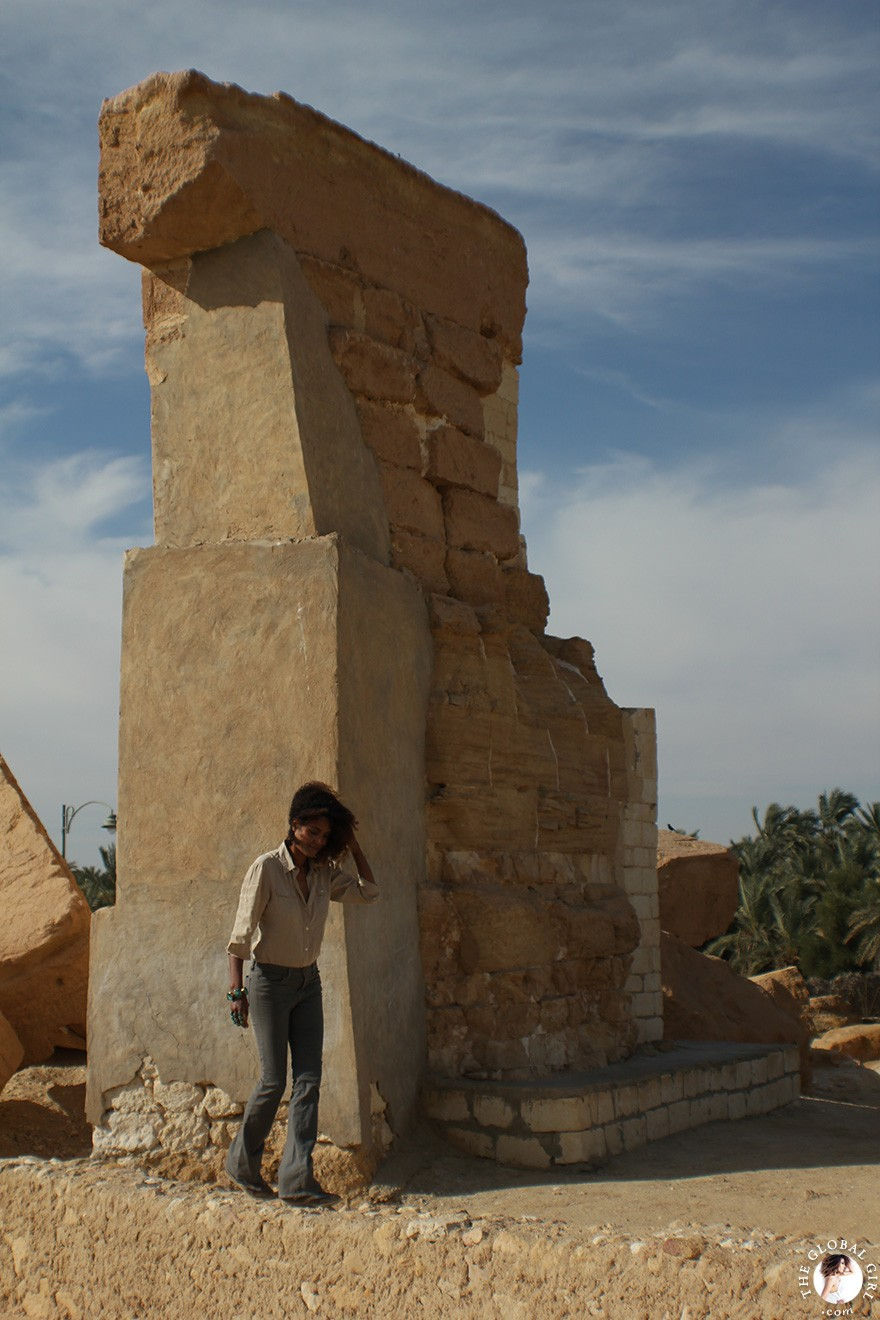 The Global Girl Travels: Ndoema at the Temple of the Oracle of Amun at Siwa Oasis, Egypt.