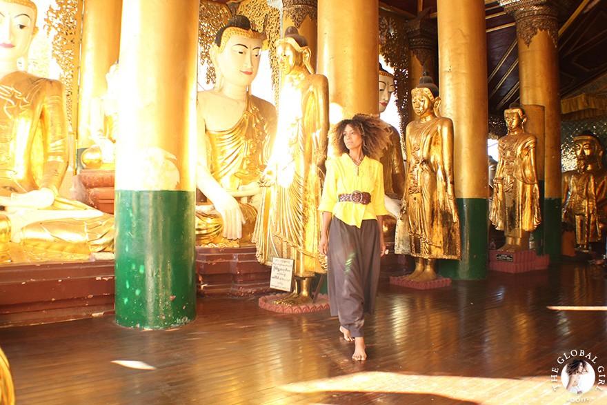 The Global Girl Travels: Shwedagon Pagoda in Yangon, Burma.