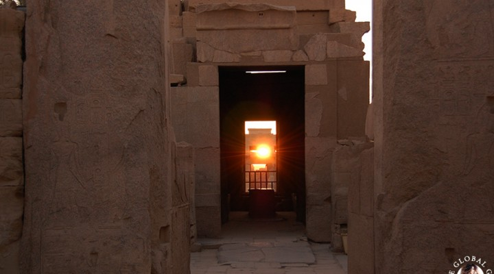 The Global Girl Travels: Winter Solstice Sunrise at the Karnak Temple in Luxor, Egypt.