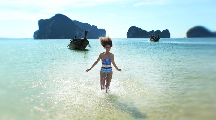 The Global Girl Travels: Ndoema at Koh Pakbia Island Beach in the Andaman Sea, Southern Thailand.