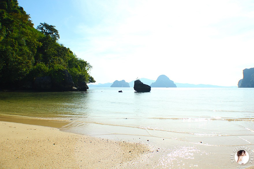 The Global Girl Travels: Koh Pakbia Island Beach in the Andaman Sea, Southern Thailand.