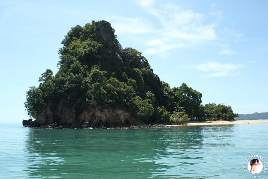 The Global Girl Travels: Khai Nok Island Beach in the Andaman Sea, Southern Thailand.