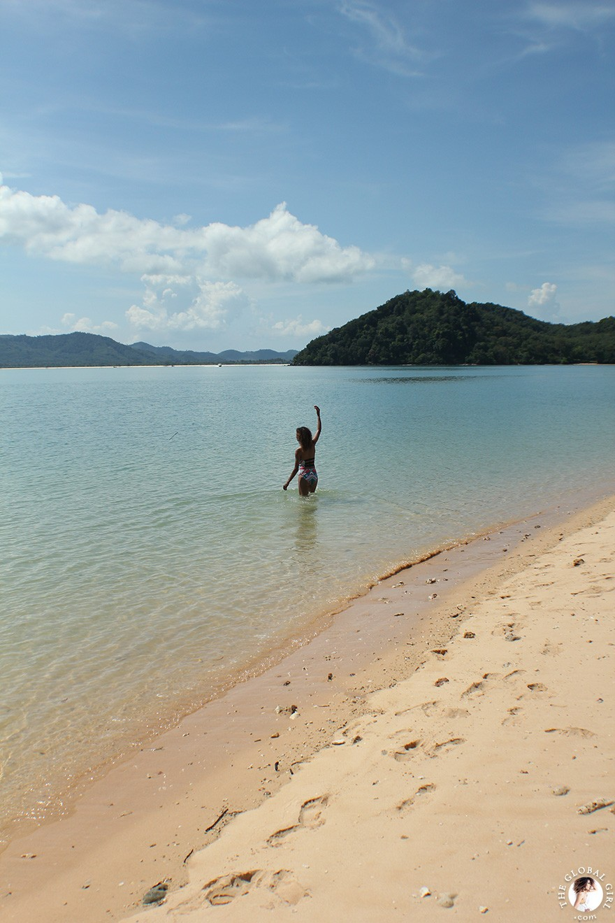 The Global Girl Travels: Khai Nok Island Beach in the Andaman Sea, Southern Thailand.