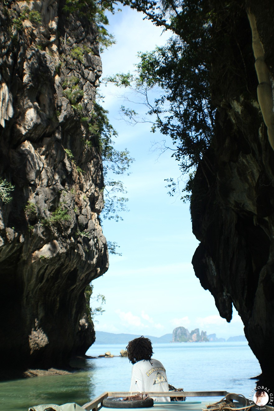 The Global Girl Travels: Koh Hong Island Lagoon in the Andaman Sea, Southern Thailand.
