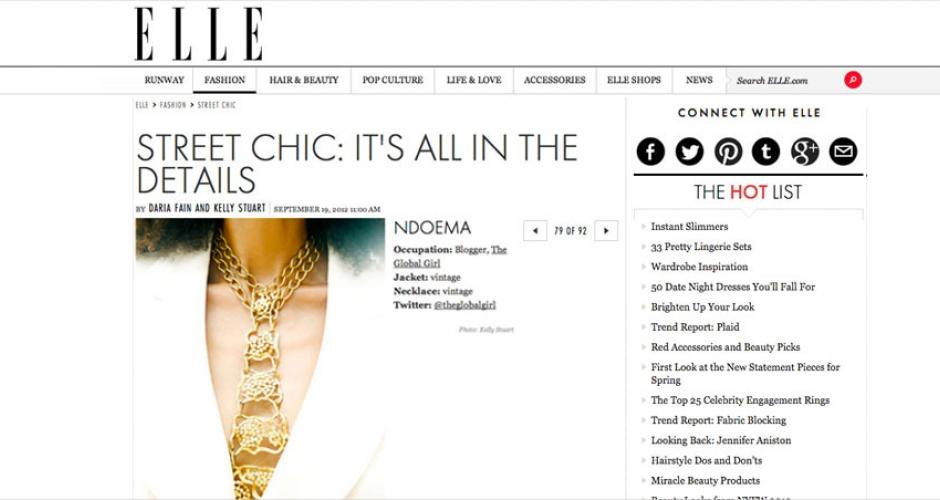 Ndoema en ELLE Magazine