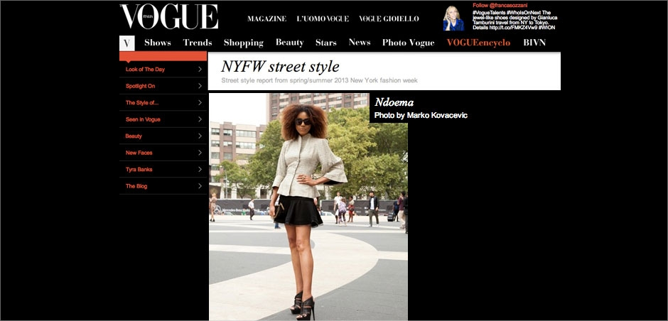 Ndoema在Vogue意大利