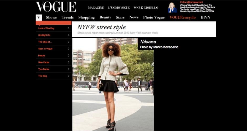 Ndoema en Vogue Italia