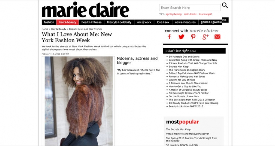 (English) Marie Claire: What I Love About Me