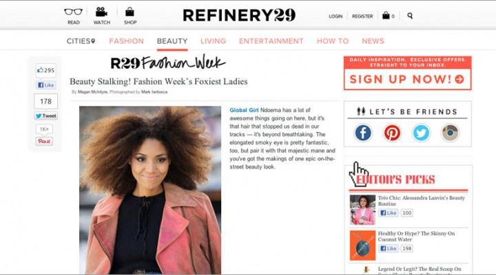 Refinery 29: Beauty Stalking