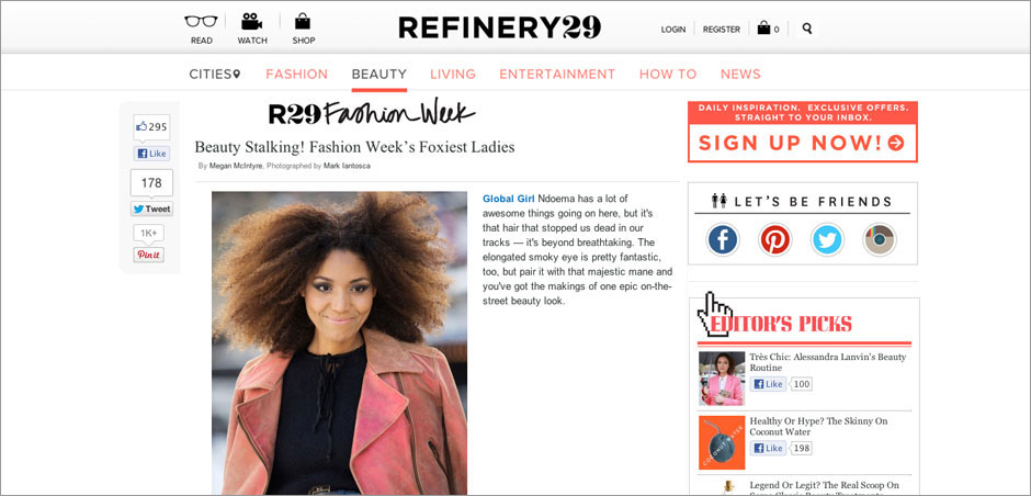 Refinery 29: Beauty Stalking