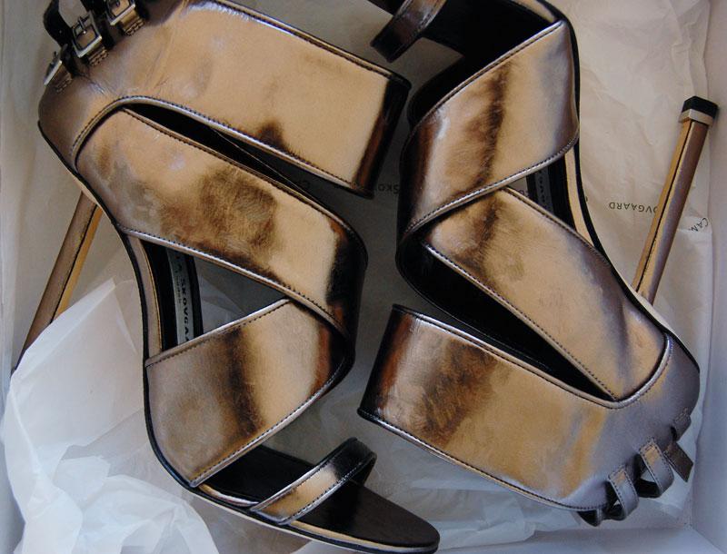 Camilla Skovgaard metallic-leather sandals