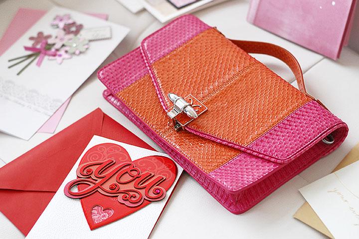 The Global Girl Fashion Cinema Series: Monika Chiang snake clutch bag.