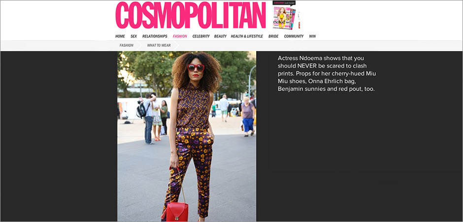 Ndoema in a Head-to-toe floral print look - Cosmopolitan Australia