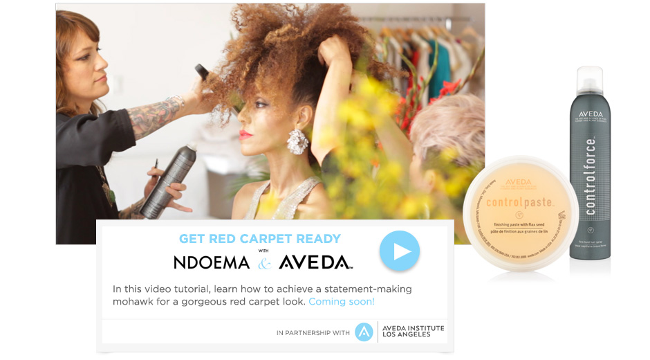 Get Read Carpet Ready with Ndoema & Aveda