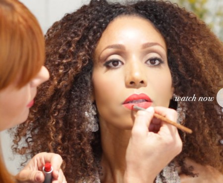 Create the Cat Eye & Red Lip Look