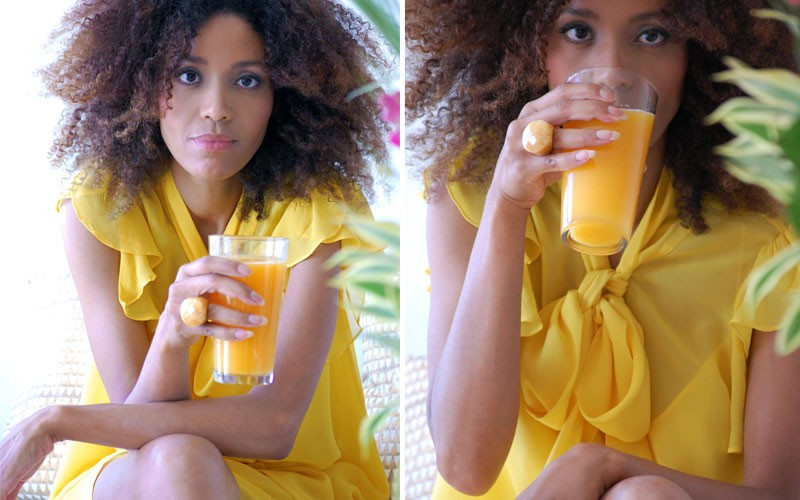 The Global Girl Healthy Living: Ndoema shares her orange juice fast secrets.