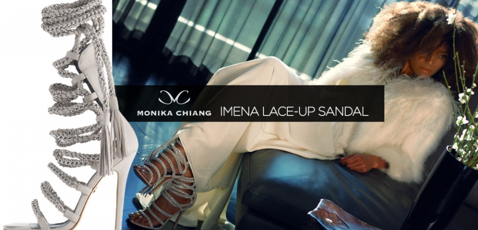(English) Edgy Chic: Monika Chiang Imena Lace-up Sandal